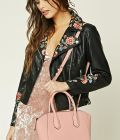 Faux Leather Satchel at
