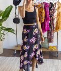 Moxie Floral Wrap Maxi Skirt at francesca's