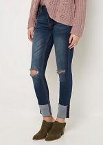 Flex Frayed Folded Cuff Skinny Jean at rue21