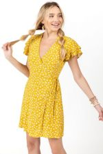 Varena Floral Wrap Dress at francesca's