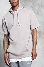 Fleece Short-sleeve Hoodie at Forever 21