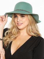 Beaded Trim Floppy Hat at Torrid