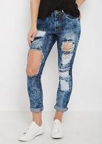 Destroyed & Washed Mid Rise Skinny Jean at rue21