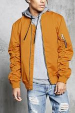 Ruched Sleeve Bomber Jacket at Forever 21