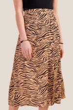 Miranda Animal Print Midi Skirt at francesca's