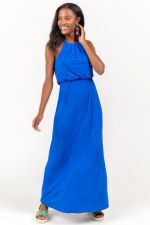 Flawless Knit Maxi Dress in Blue at francesca's