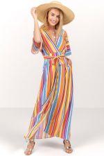 Alessia Striped Maxi Dress at francesca's