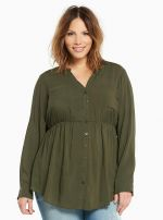 Challis Button Front Tunic at Torrid