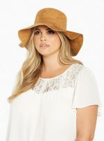 Faux Suede Floppy Hat at Torrid