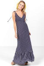 Asha Stripe Tiered Maxi Dress at francesca's