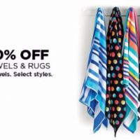 50–60% Off Bath Towels & Rugs & Beach Towels