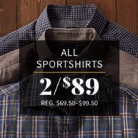 2 for $89 All Sportshirts