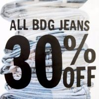 All BDG Jeans 30% Off