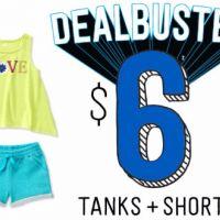 $6 Tanks & Shorts