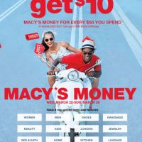 Get $10 Macy's Money for Every $50 You Spend