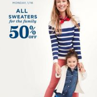 50% Off All Sweaters for the Family