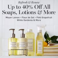 Up to 40% Off All Soaps, Lotions & More