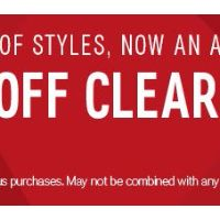 Additional 50% Off Clearance