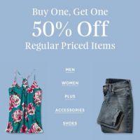 BOGO 50% Off Regular Priced Items
