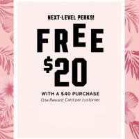 Free $20 Reward Card With $40 Purchase