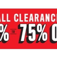 All Clearance 60% to 75% Off