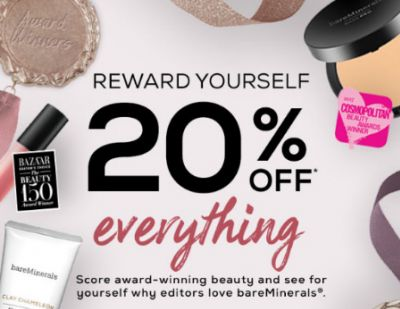 20% Off Everything at bareMinerals