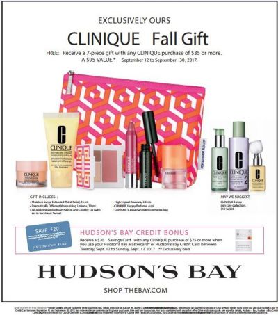 Clinique Fall Gift at Hudson's Bay