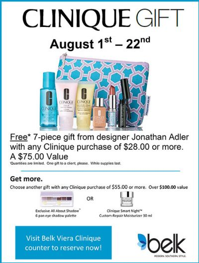 August Clinique Gift at Belk