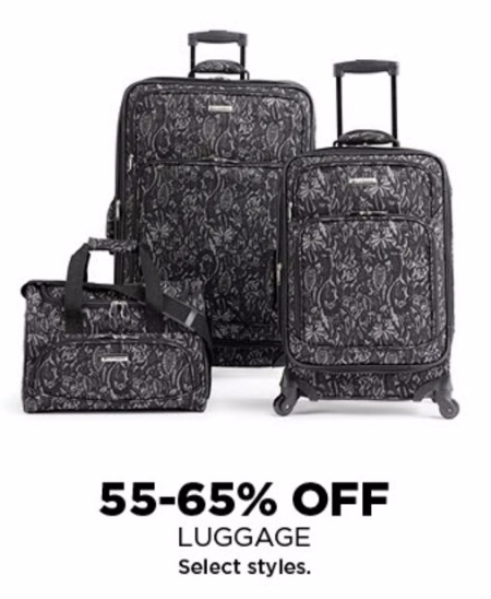 55–65% Off Luggage