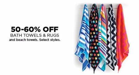 50–60% Off Bath Towels & Rugs & Beach Towels