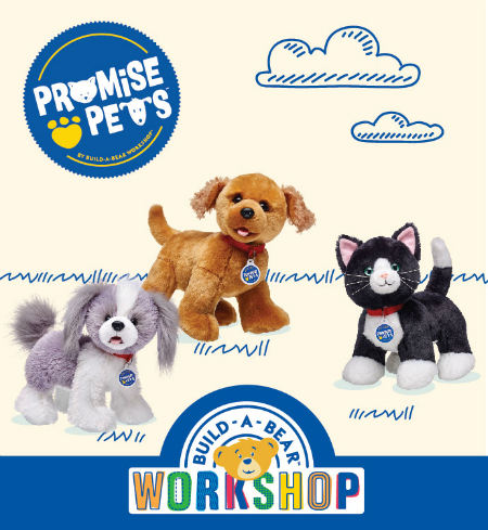 New Promise PetsTM join the animal fun at Build-A-Bear Workshop®