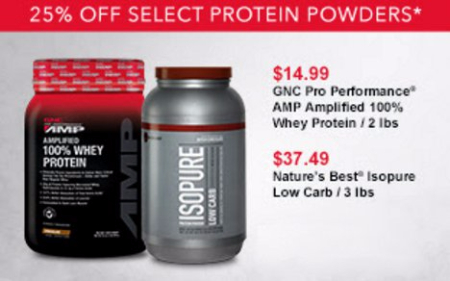 25% Off Select Protein Powders