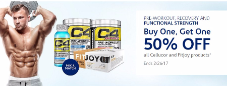 BOGO 50% Off All Cellucor & FitJoy Products