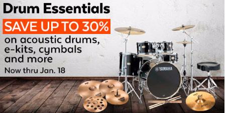 Up to 30% Off Drum Essentials
