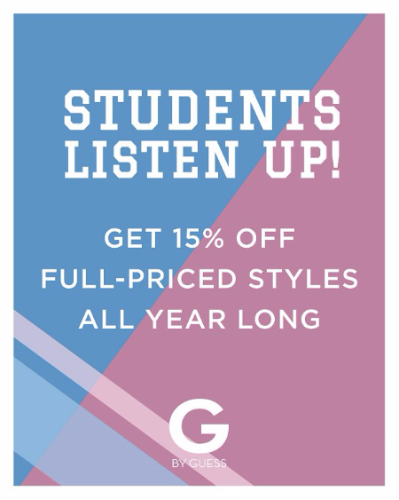 G by GUESS Student Discount