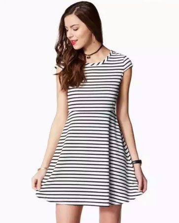 Scout Fit & Flare Striped Dress
