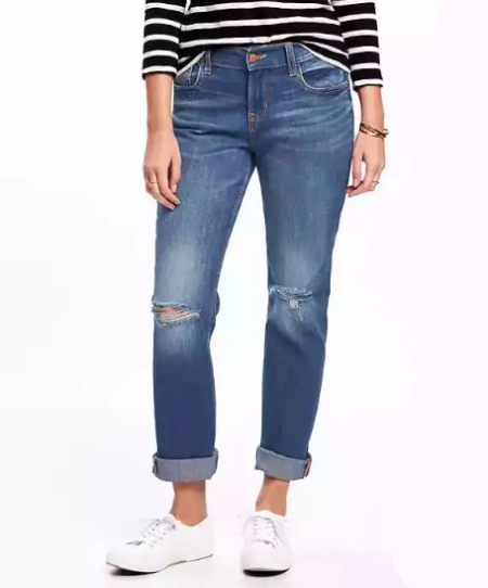 Boyfriend Straight Jeans for Women