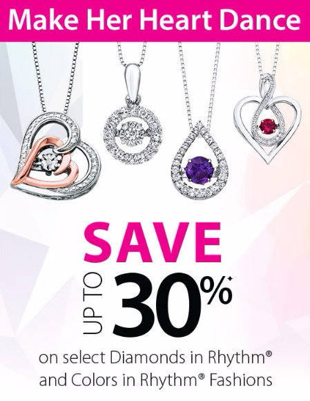 Save up to 30% on Select Diamonds in Rhythm & Colors in Rhythm