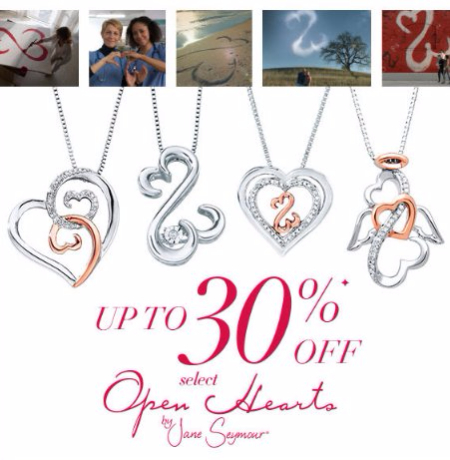 Up to 30% Off Select Open Hearts Jewelry