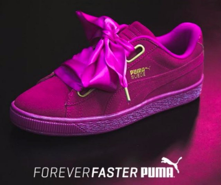Women's Puma Suede Heart Athletic Shoe