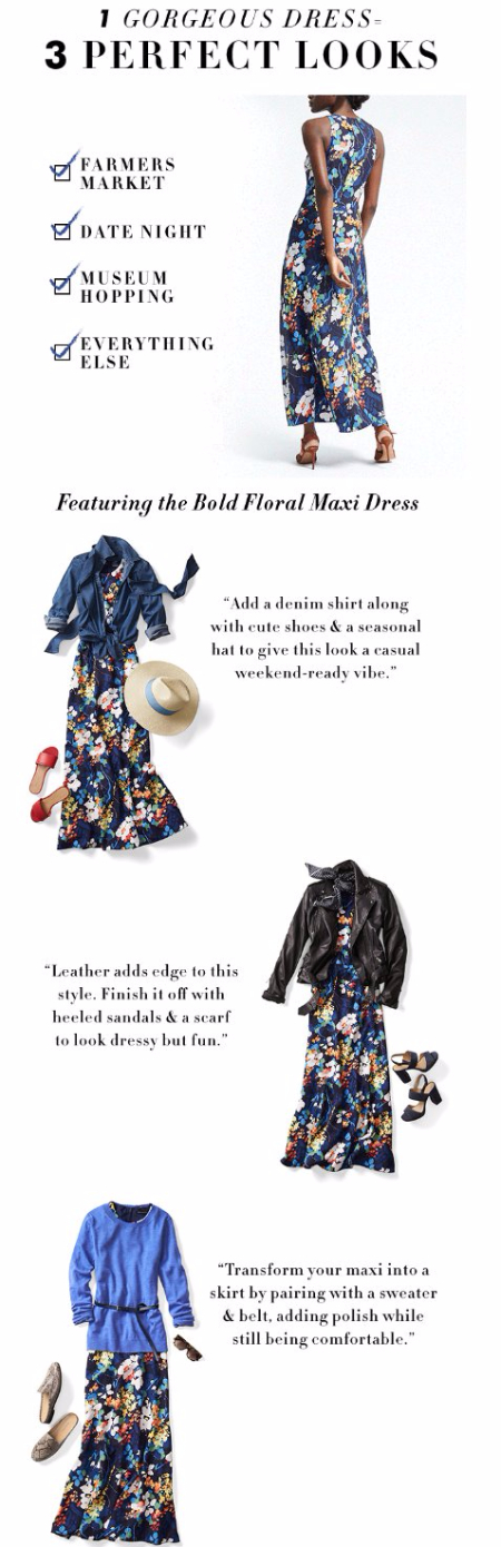 One Dress Worn Three Ways