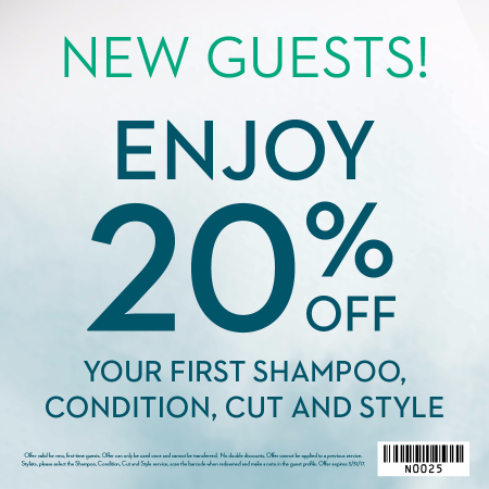 Special Offer For New Regis Salon Guests!