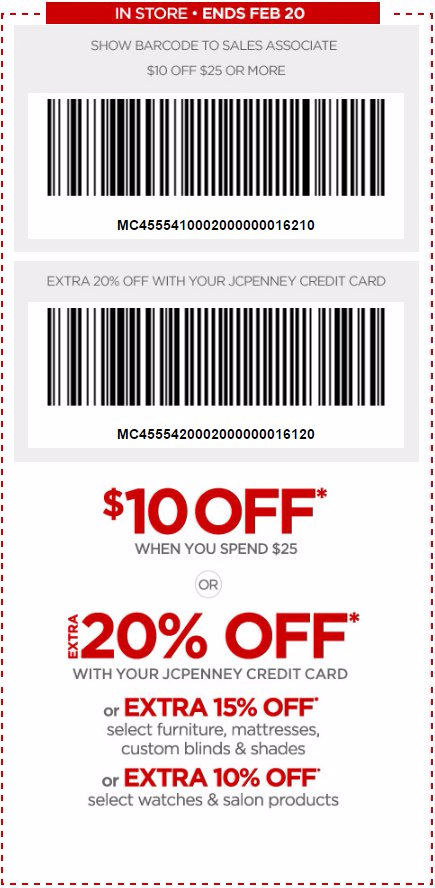 Extra 20% Off With Your JCPenney Credit Card