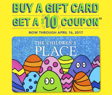 Buy a Gift Card, Get a $10 Coupon