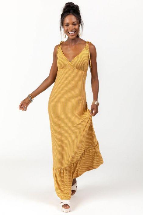 Rhonda Stripe Tiered Dress at francesca's