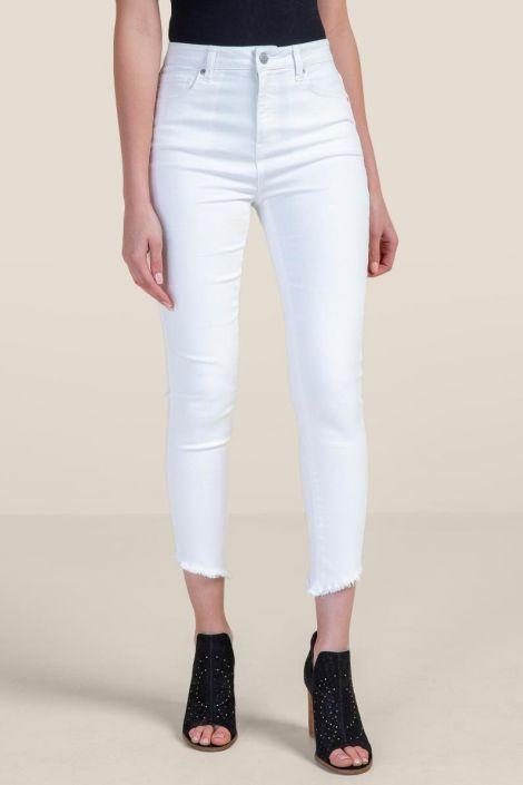 Harper Asymmetrical Hem Jeans at francesca's