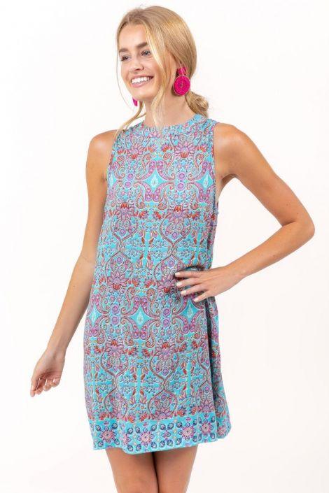 Eleanor Paisley Shift Dress at francesca's