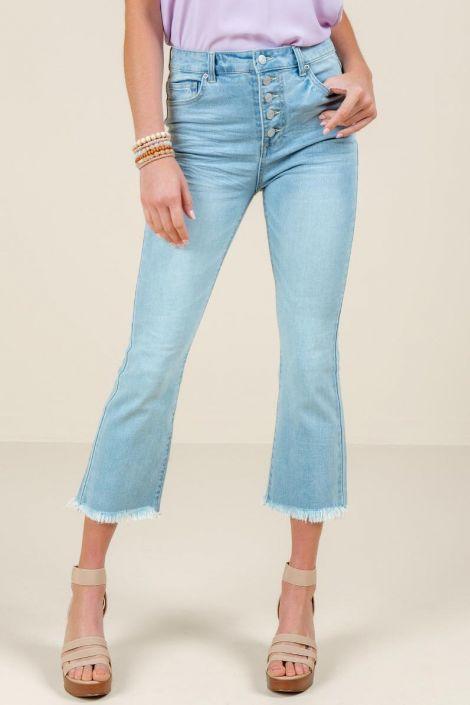Jordan High Rise Flare Jeans at francesca's