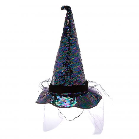 Reversible Sequin Witch Hat - Black at Claire's