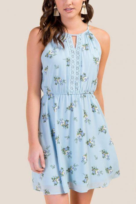 Gretchen Floral A-Line Dress at francesca's